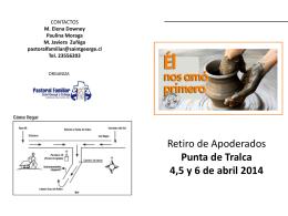 Información inscripción Retiro 2014