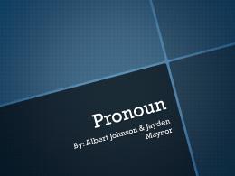 Pronoun - sieholmes