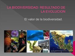 LA BIODIVERSIDAD: RESULTADO DE LA EVOLUCION - est116-1d