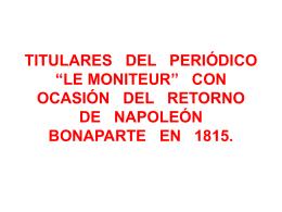 Retorno de Bonaparte