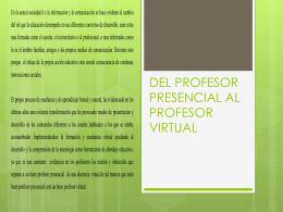 del profesor presencial al profesor virtual