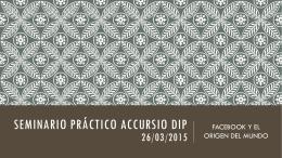 SEMINARIO PRÁCTICO ACCURSIO DIP 27/03/2015