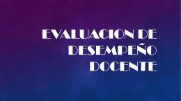 Evaluación de desempeño docente