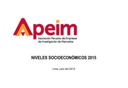 Fórmula Apeim – NSE Perú 2015