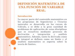 definición matemática de una función de variable real.