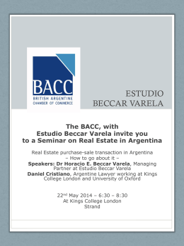 More Information - British Argentine Chamber of Commerce