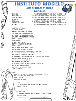SEXTO GRADO - Universidad Modelo