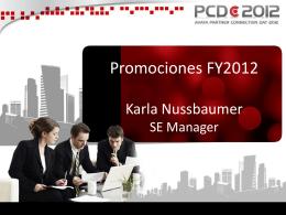 PCD Promociones FY2012 KARLANA