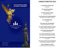 consejo directivo 2012 - Asociaciòn Jalisciense de Medicos Internistas