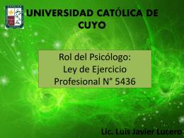 Ley de Ejercicio Profesional N° 5436 (3516277)