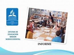 OFICINA DE EDUCACION MISION NOROCCIDENTAL