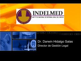 Funciones del INDELMED - Dr. Darwin Hidalgo Salas