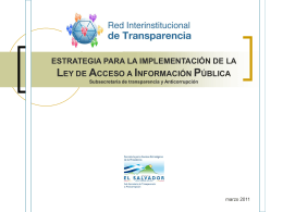 Documento 13 - Implementación de la LAIP