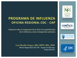 PROGRAMA DE INFLUENZA Oficina REGIONAL CDC