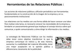 Las acciones de relaciones públicas y difusión