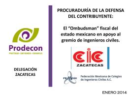 PRESENTACIÓN PRODECON COLEGIO DE INGENIEROS