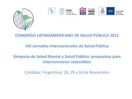 Salud Internacional - Escuela de Salud Pública