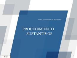 Procedimientos sustantivos -Informe de auditoria