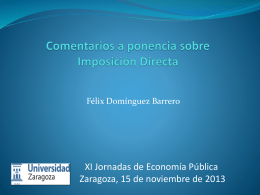 Comentario a la 1ª sesión. F. Domínguez