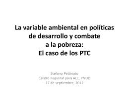 Como promover la variable ambiental en politicas de desarrollo y