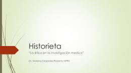 Tarea historieta de etica en la investigacion