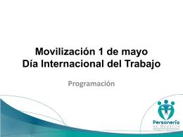 Logistica para Movilización 1 de mayo