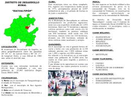 distrito de desarrollo rural *zacualtipán