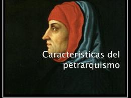 Características del petrarquismo