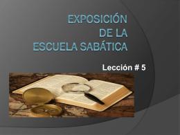 Exposicion de la clase programa del Sabado