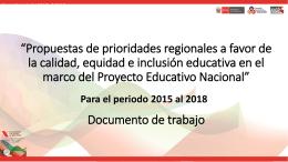 Plan Operativo Anual 2015 - Consejo Nacional de Educación