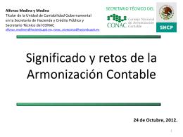 Significado y retos de la Armonización Contable