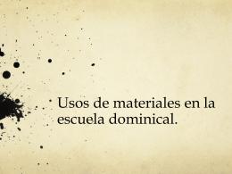 Uso de materiales ED 04 ene 2014