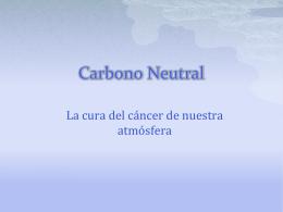 presentación sobre Carbono Neutral