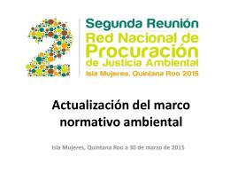 Actualización del marco normativo ambiental