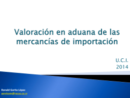 valor aduanero