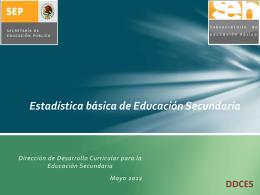 Estadística básica de Educación Secundaria