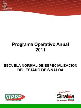 Programa Operativo Anual 2011 - Portal de Acceso a la Información