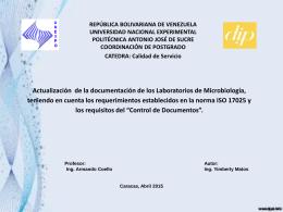 Control de Documentos - CALIDAD-DE-SERVICIO