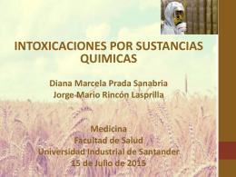 intoxicaciones-2p - Universidad Industrial de Santander