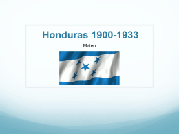 Honduras 1900-1933 - Park Languages US