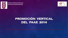 Proceso de Promoción Vertical 2014