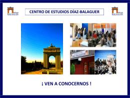 Diapositiva 1 - Bachillerato en Madrid Díaz Balaguer