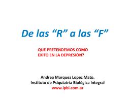 Cognición y Emoción. Servier Mendoza 2014