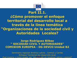 Línea temática CSO-LA 2014-2017