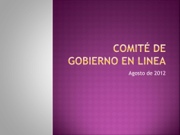 COMITÉ DE GOBIERNO EN LINEA