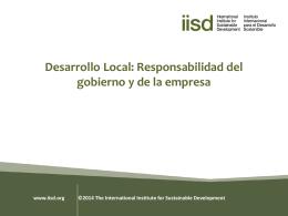 Desarrollo Local: Responsabilidad del Gobierno y de la Empresa