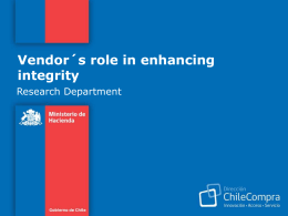 Vendor´s role in enhancing integrity