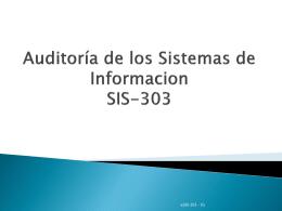 Unidad 6: Auditoría de los Sistemas de Información