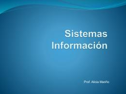 Sistemas Información - Prof-Alicia-Marino