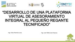 SISTEMA DE INFORMACIÓN AGROCLIMÁTICO Y RIEGO